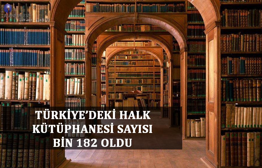TÜRKİYE'DEKİ HALK KÜTÜPHANESİ SAYISI BİN 182 OLDU