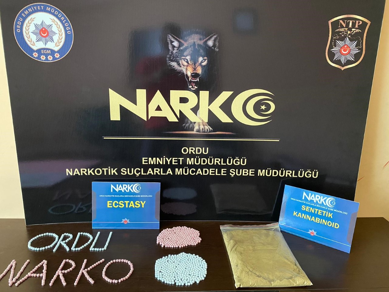 İl Emniyet Müdürlüğüne bağlı Narkotik Suçlarla Mücadele Şube Müdürlüğü tarafından yapılan çalışmalar