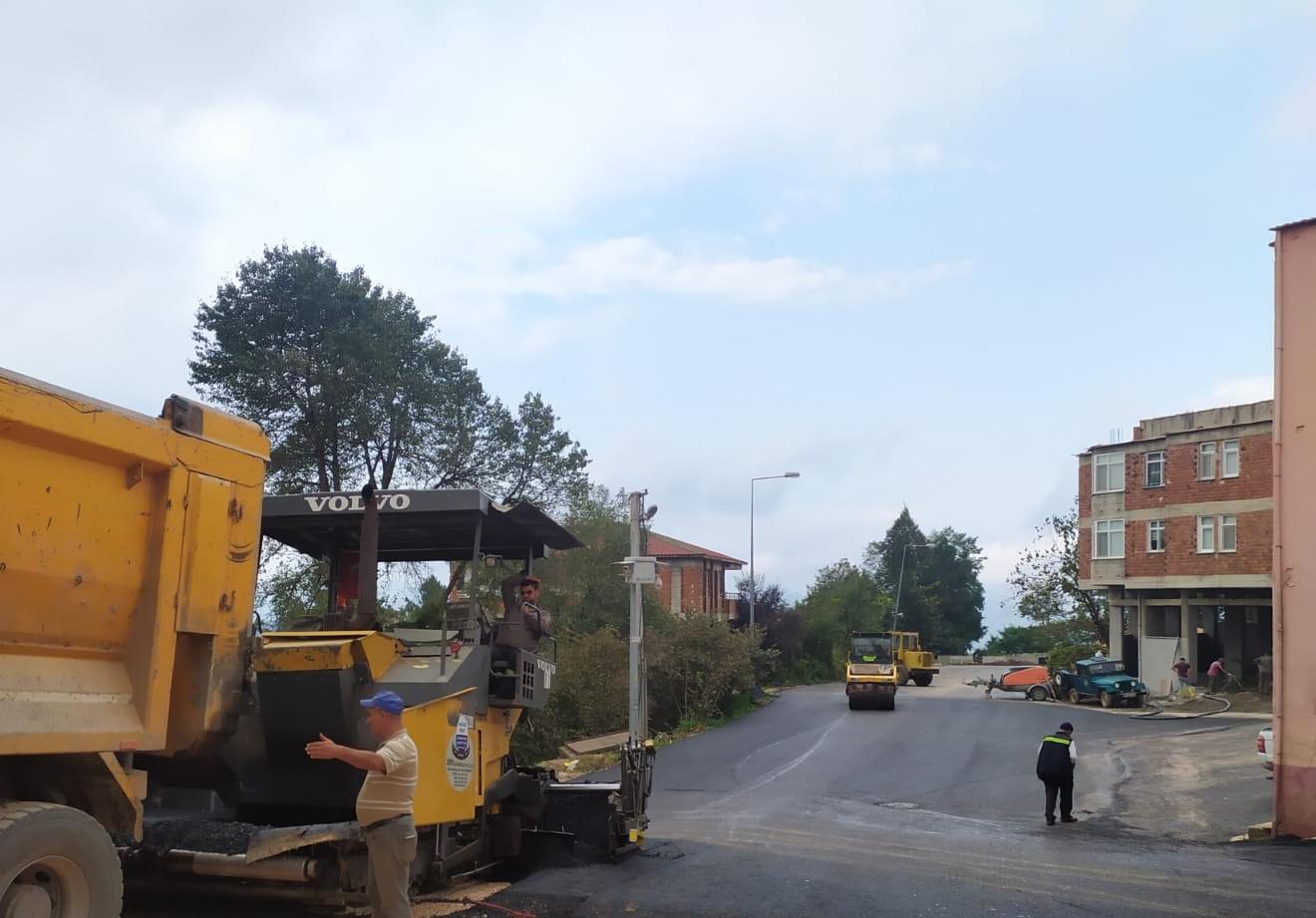 ÇAMAŞ'IN KALBİNE SICAK ASFALT!