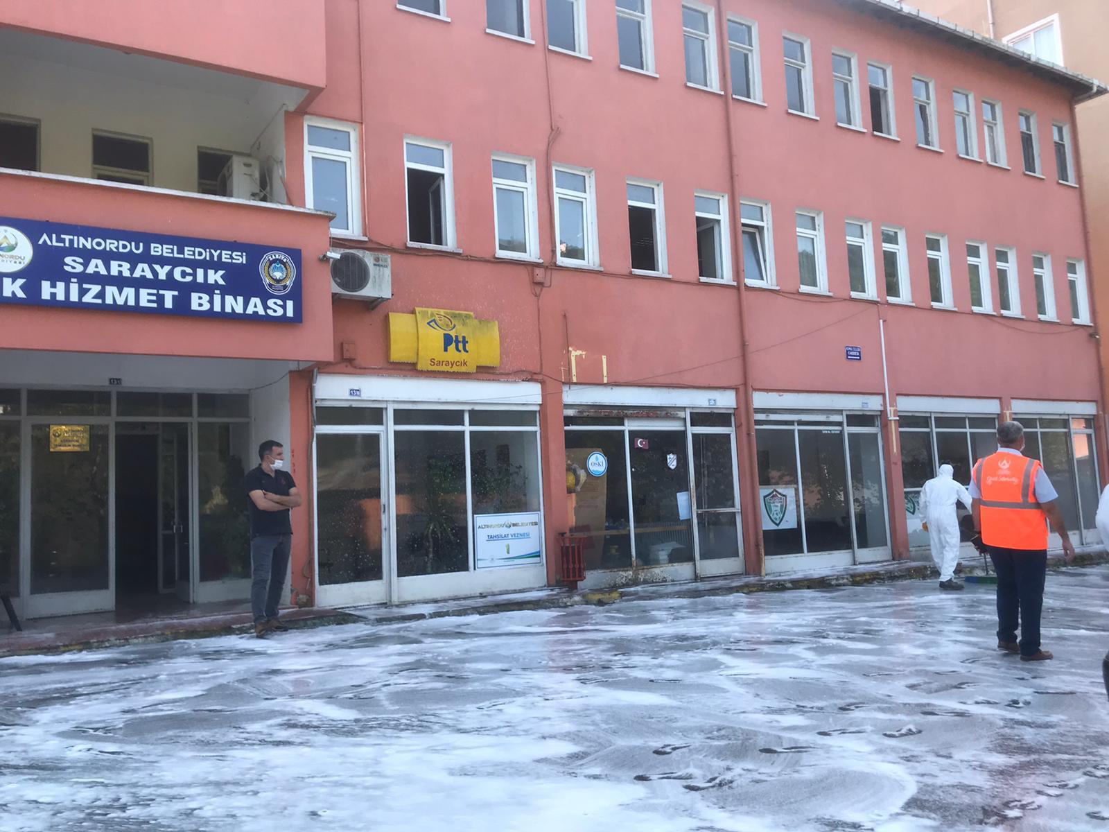 ALTINORDU BELEDİYESİ TÜM EKİPLERİYLE SARAYCIK'A ÇIKARMA YAPTI