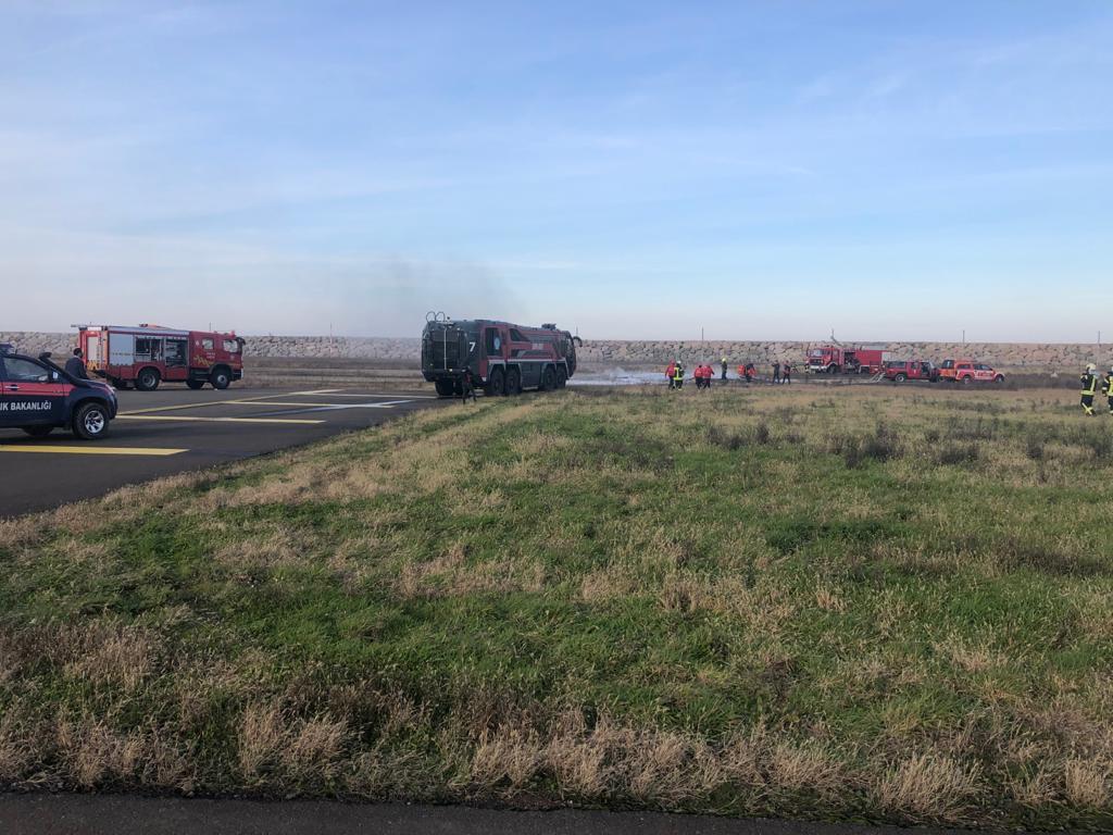Ordu-Giresun Havalimanında, Kısmi Acil Durum ve Ateşli Yangın Tatbikatı Yapıldı