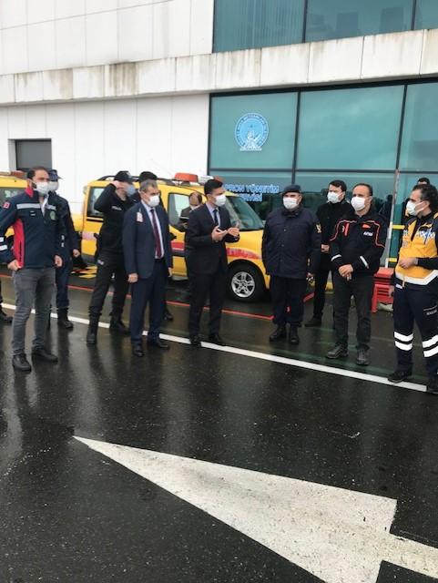 Ordu-Giresun Havalimanında Bulaşıcı Hastalık Tatbikatı Yapıldı