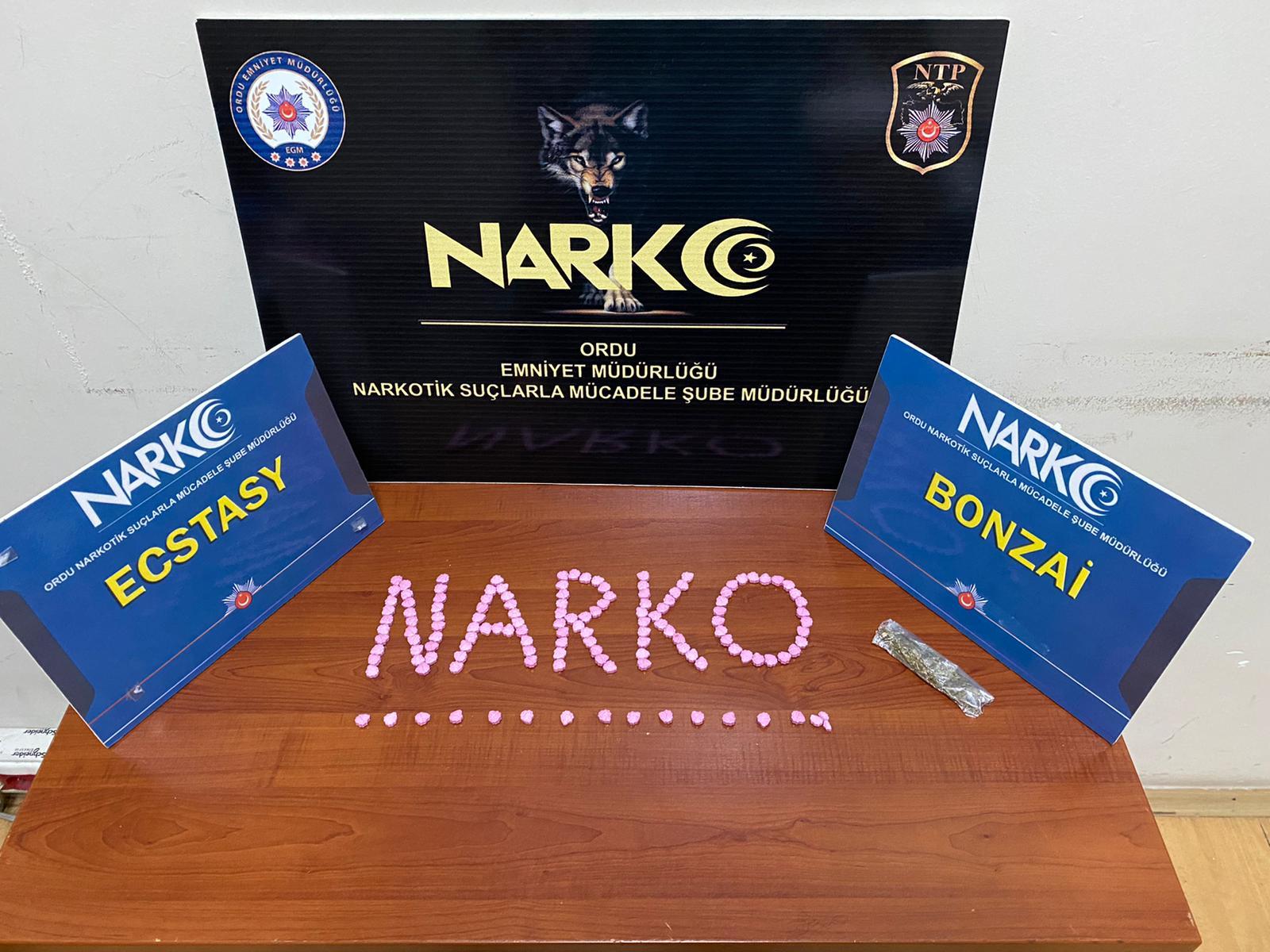 09 Kasım 2020 ile 15 Kasım 2020 tarihleri arası Narkotik Şube Müdürlüğü Faaliyetleri