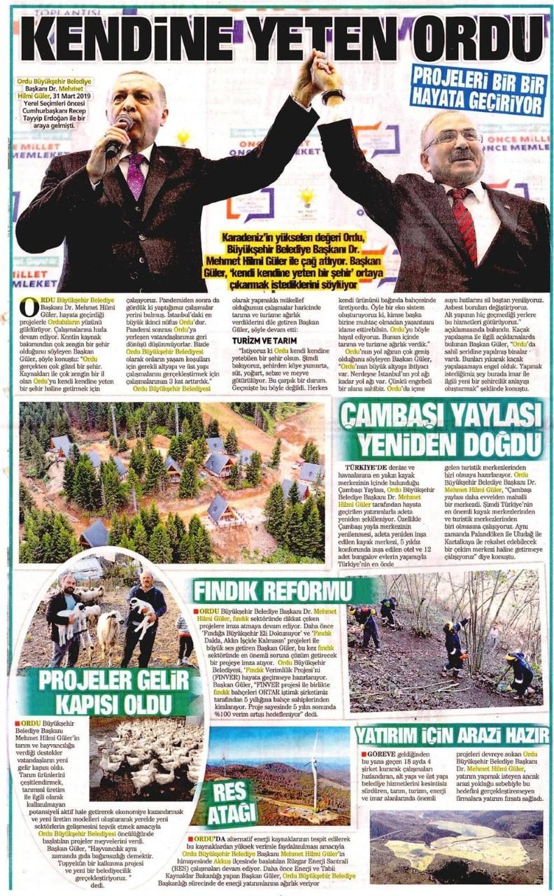 TAKVİM GAZETESİ OBB'Yİ TAM SAYFA HABER YAPTI
