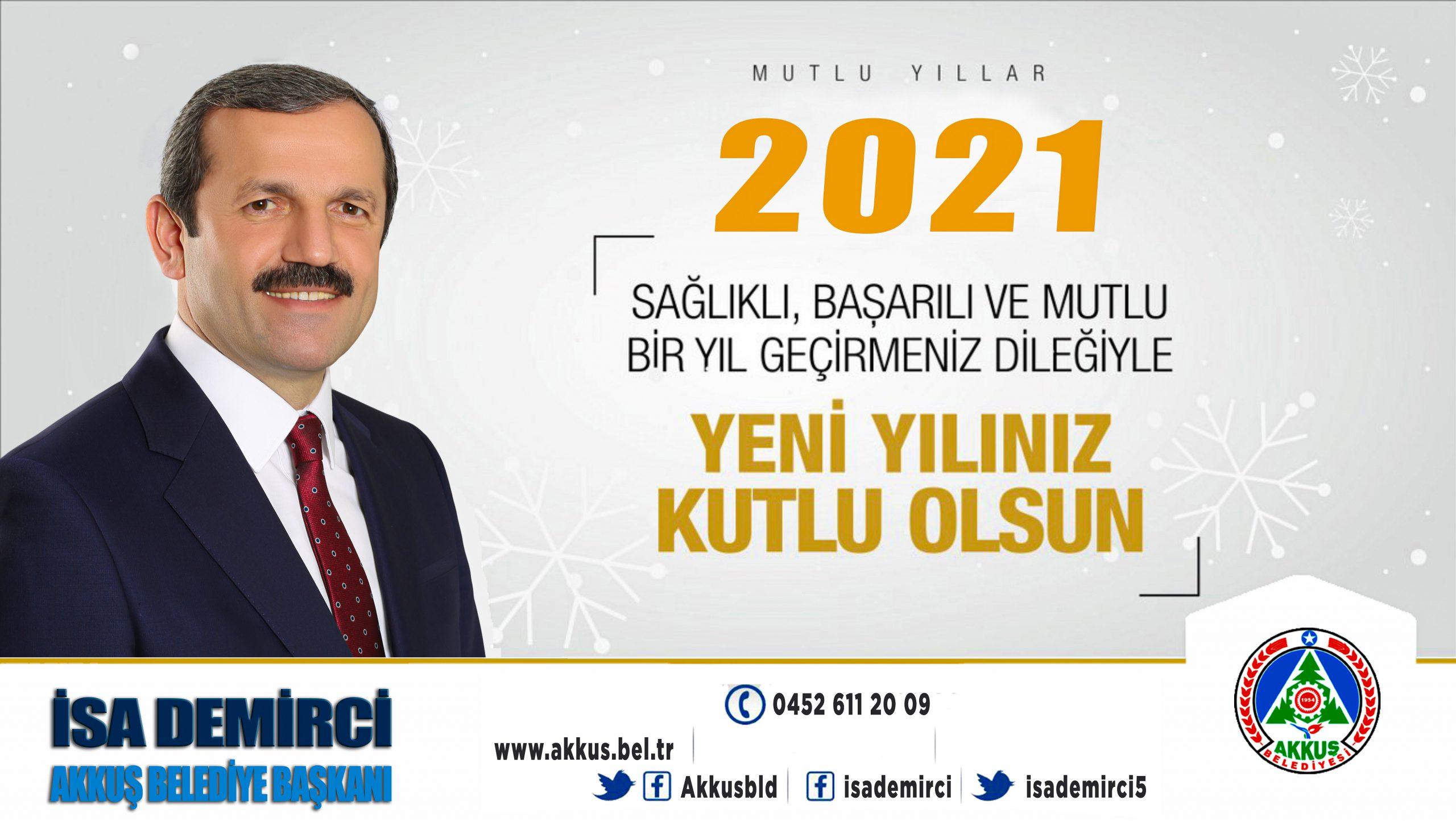 """Başkan Demirci, """"Sağlıklı ve Huzurlu Bir Yıl Diliyorum"""""""