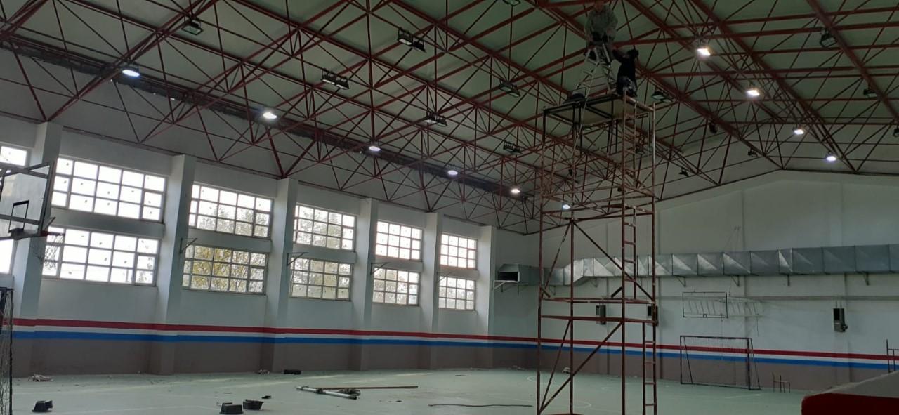 Yusuf Bahri Anadolu İmam Hatip Lisesi Spor Salonu Yenileniyor
