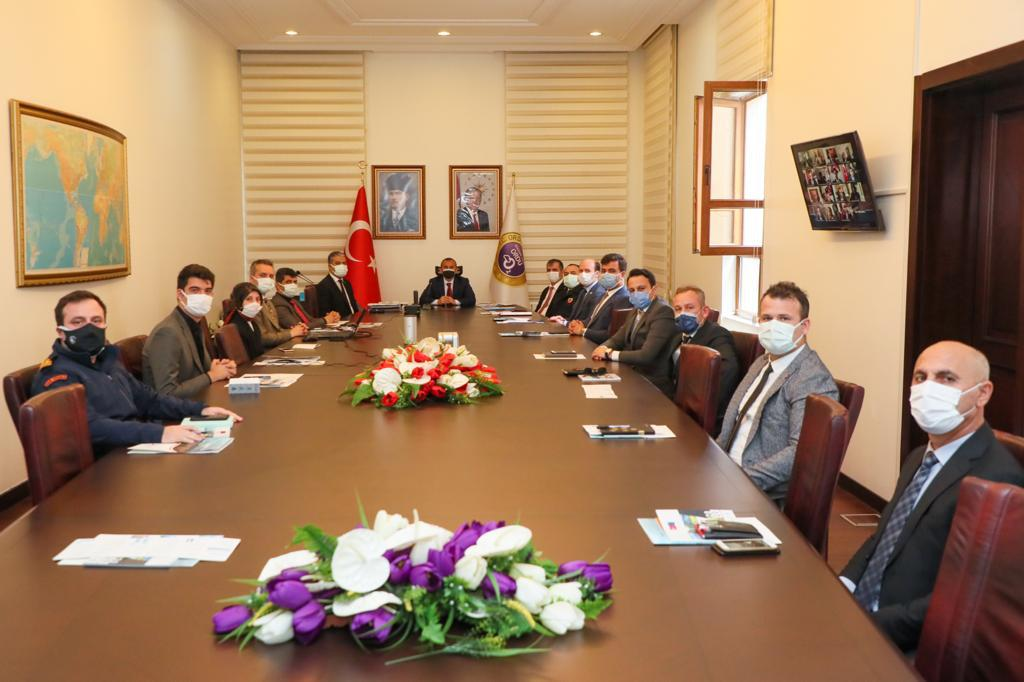 Kaymakamlar, İl Güvenlik ve Asayiş Koordinasyon Toplantısı Yapıldı