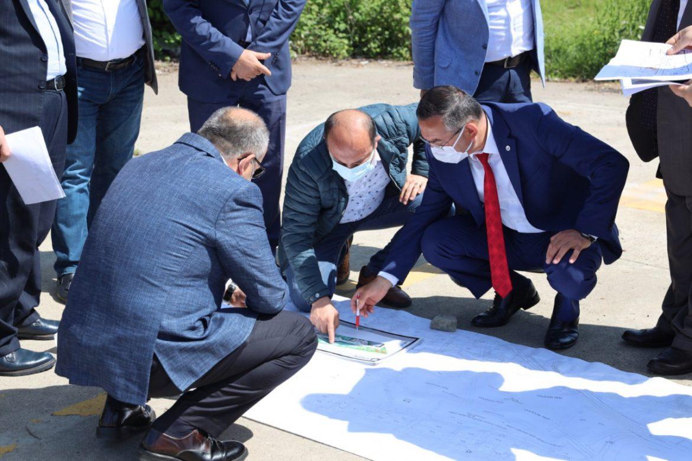 Rektör Akdoğan, Ünye Yerleşkesi için Tahsis Edilen Arazide İncelemelerde Bulundu